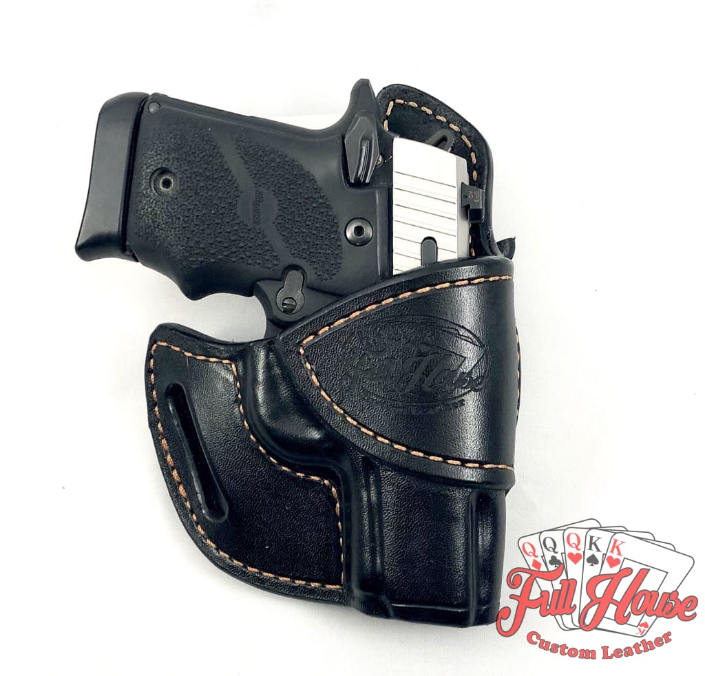 Sig Sauer P938 9mm - Black Leather Avenger Holster (OWB) - Full House Custom Leather