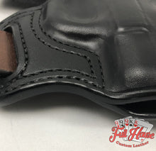 Load image into Gallery viewer, Smith & Wesson M&P Shield .45 - Black Leather Pancake Holster (OWB) - Full House Custom Leather