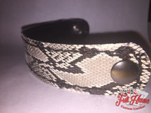 Load image into Gallery viewer, SnakeSkin - Leather Wrist Cuff - Full House Custom Leather