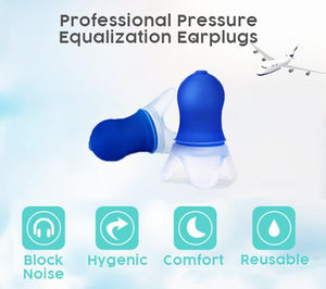 Pressure Equalization Flight Earplugs