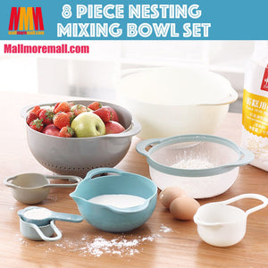 8 Piece Nesting Mixing Bowl Set