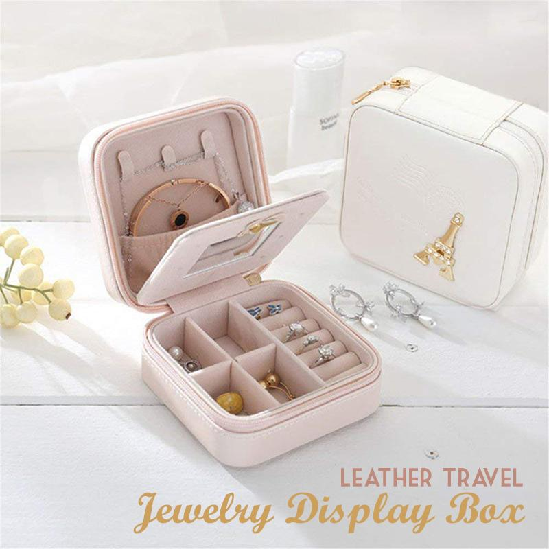 Leather Travel Jewelry Display Box