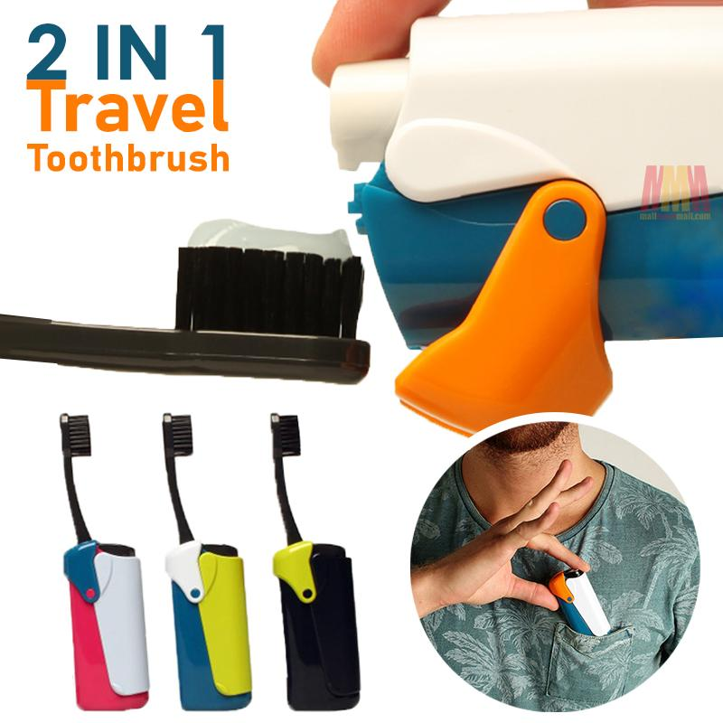 2 IN 1 Travel Toothbrush