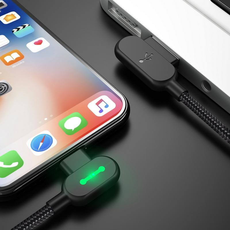 Right Angle LED Charging Cable