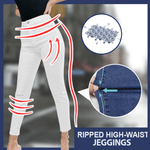 Ripped High-Waist Jeggings
