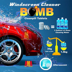 Windscreen Cleaner Bomb Cleanpill Tablets (6 weeks+ usage)