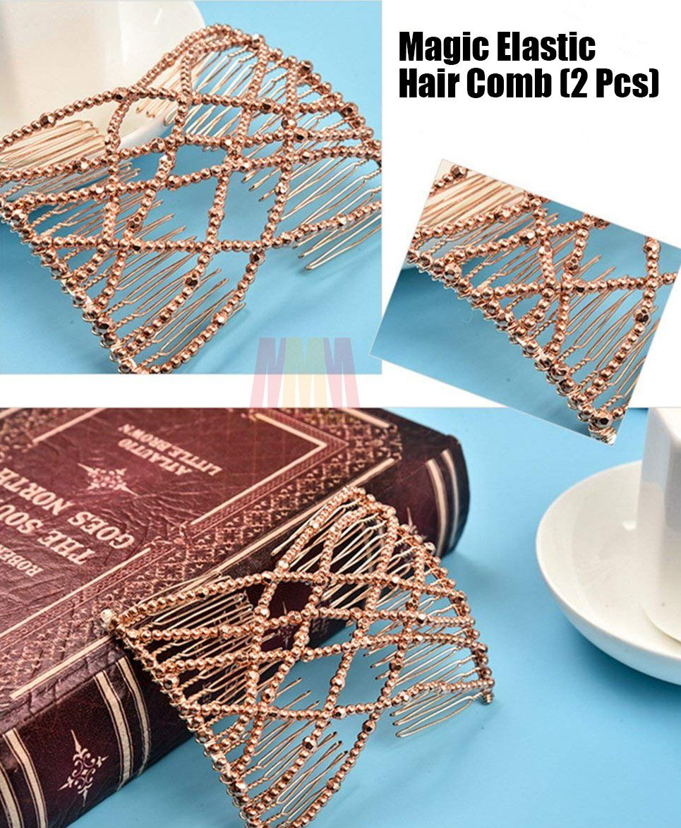 Magic Elastic Hair Comb (2 Pcs)