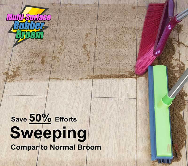 Multi-Surface Rubber Broom