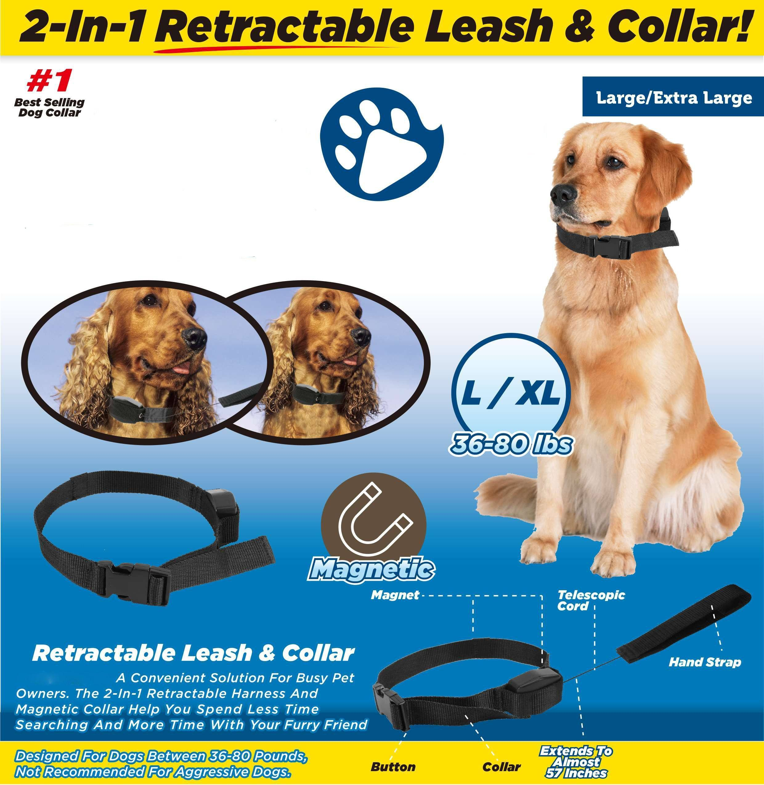 Copy of Pet Retractable And Magnetic Collar Leash
