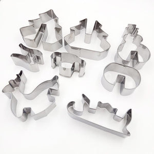 3D Christmas Cookie Cutter (8 pcs)