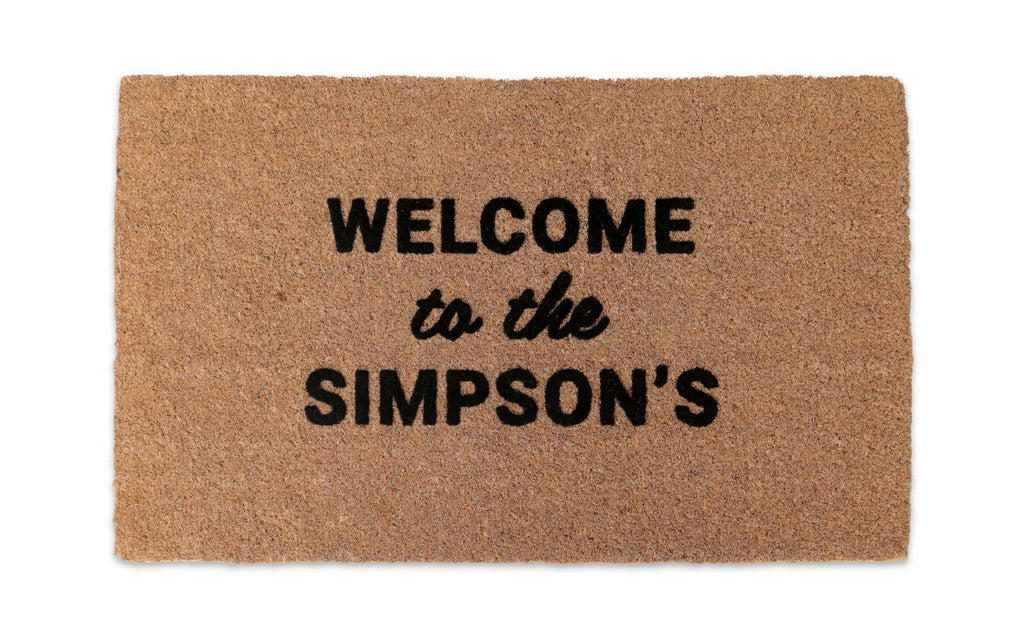 Welcome Custom Doormat