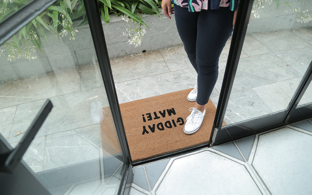 Gidday Mate Welcome Mat
