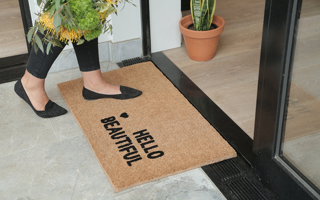 Hello Beautiful Welcome Mat