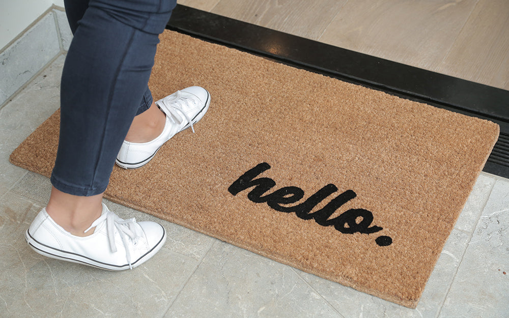 Hello Large Doormat