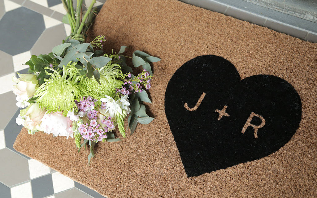 Heart Personalised Doormat