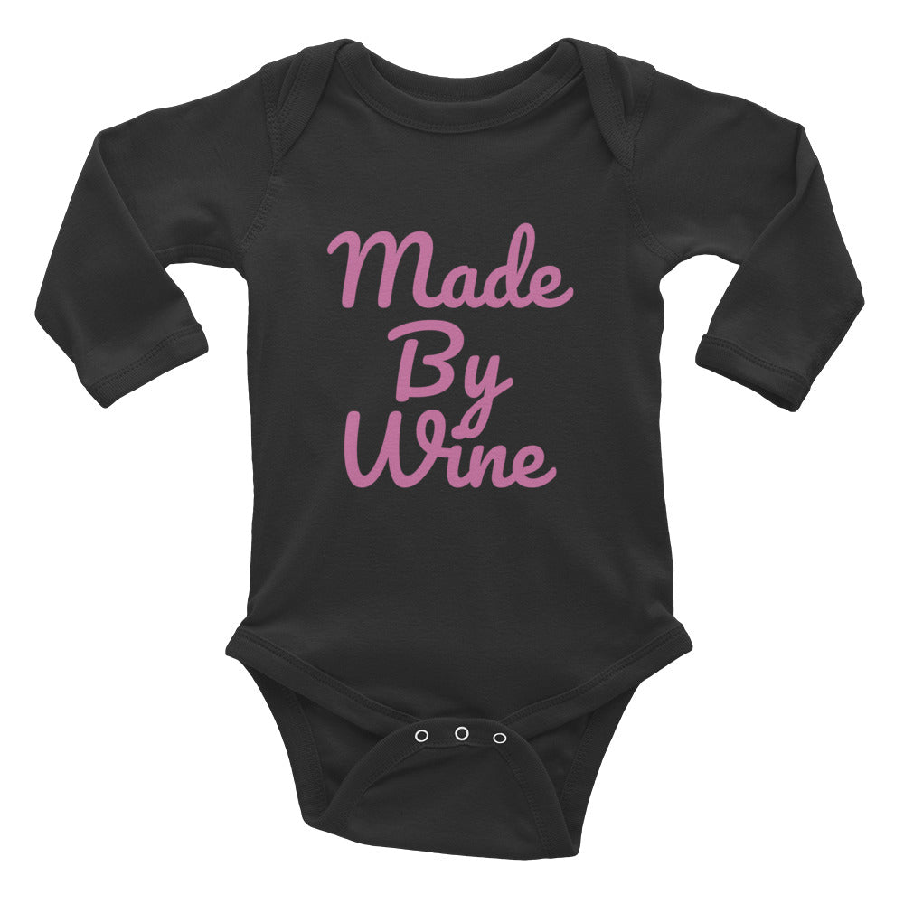 Pink - Made By Wine - Infant Long Sleeve Bodysuit - Williams & Wine
