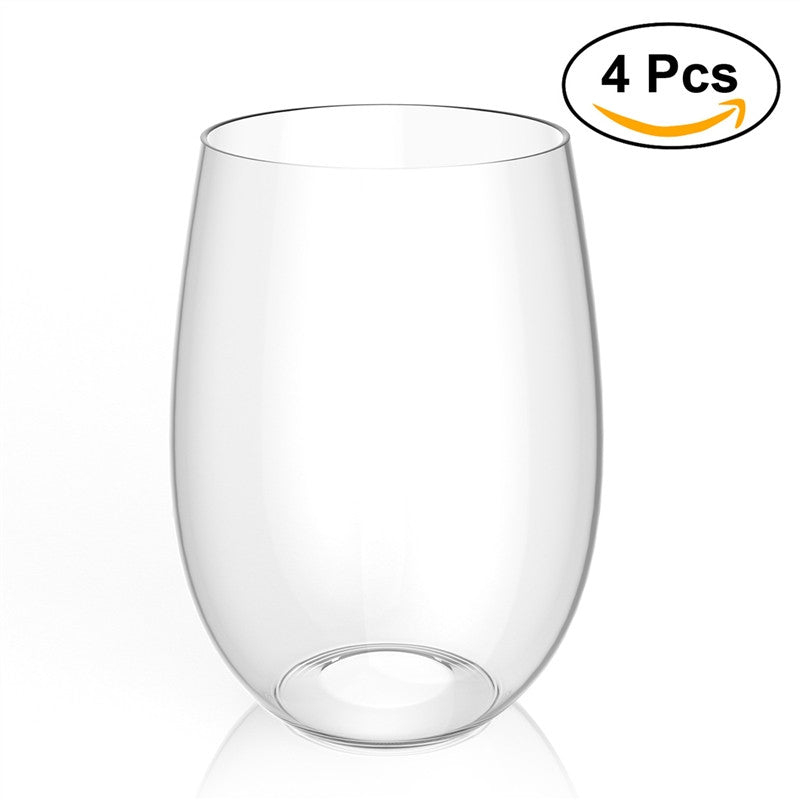 4pcs Shatterproof Plastic Wine Glass PCTG Red Wine Tumbler Glasses Cups - Williams & Wine