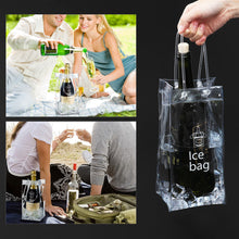 Load image into Gallery viewer, BESTOMZ Durable Clear Transparent PVC Champagne Wine Ice Bag Pouch Cooler Bag with Handle - Williams & Wine