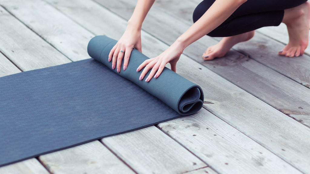 Soft denim yoga mat