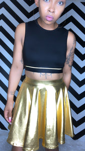 """Gold Streak"" Crop Top"
