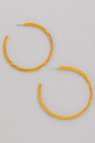 """Zest"" Yellow Hoop Earrings"