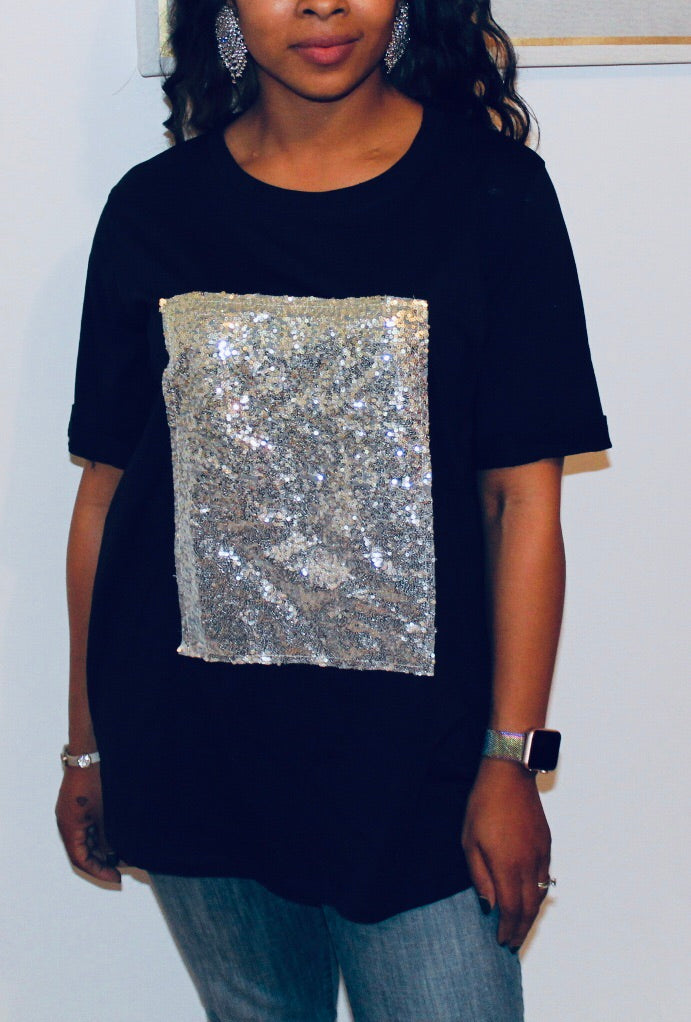"""After Party"" Sequin Tee"