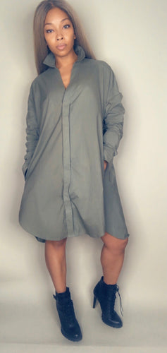 GO FOR IT SHIRT DRESS