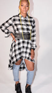 """Checkmate"" Shirt Dress"