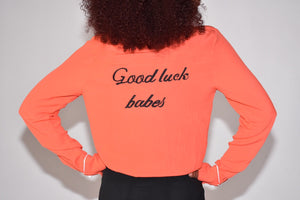 """Good Luck Babes"" Top"