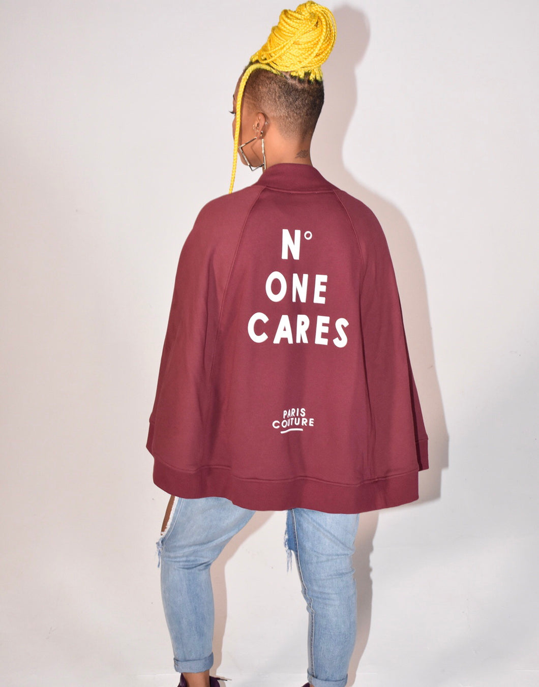 """No One Cares"" Cape Jacket"