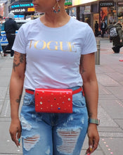 Street Glam Red Waist Bag or Clutch
