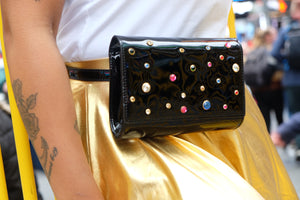 Street Glam Black Waist Bag or Clutch