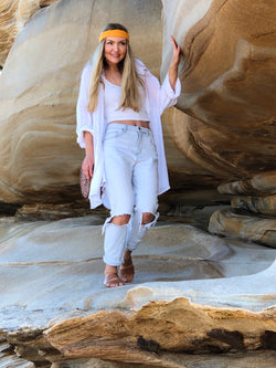 Dakota Oversized Shirt White