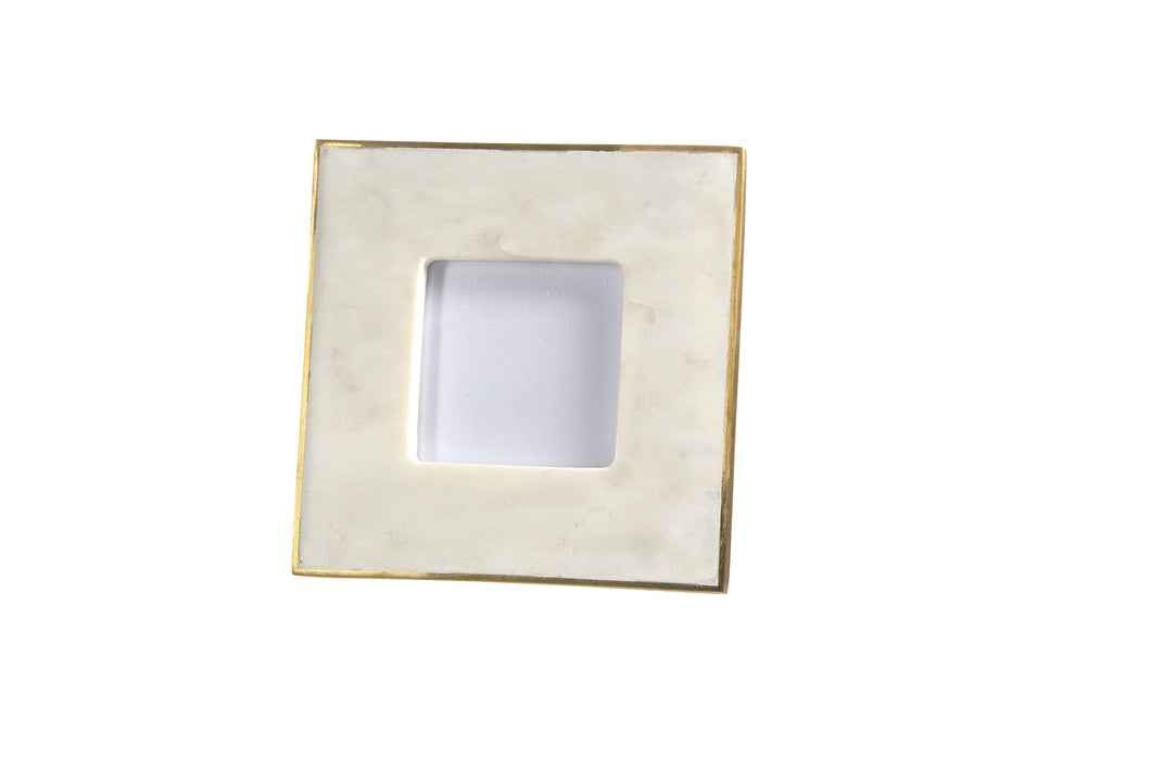 Marble Picture Frame with Brass Edge
