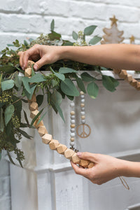 Geometric Wood Bead Garland