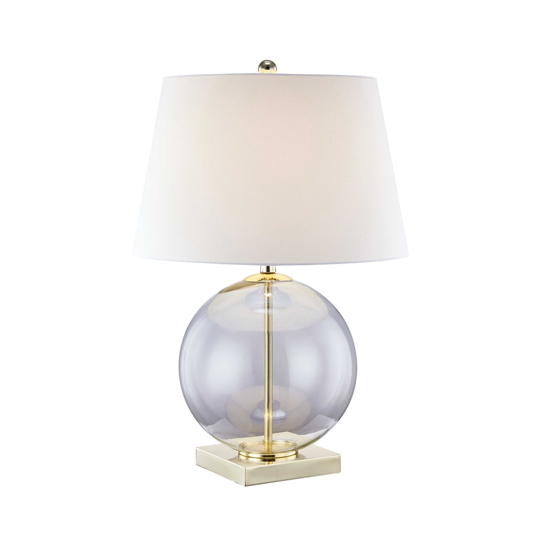 Round Clear Glass Table Lamp
