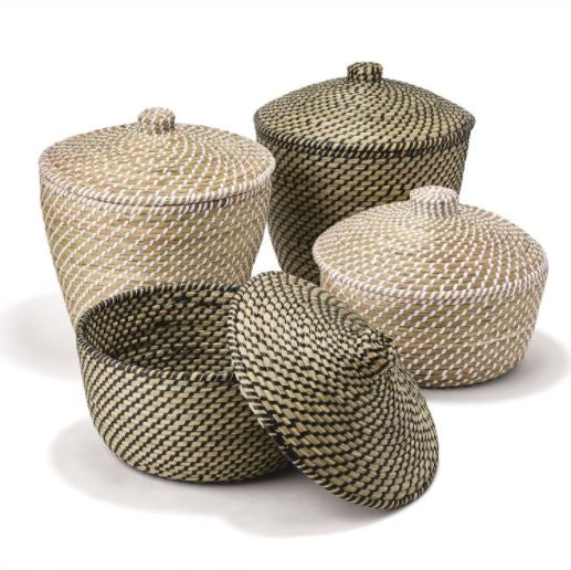 Timbavati Seagrass Lidded Baskets