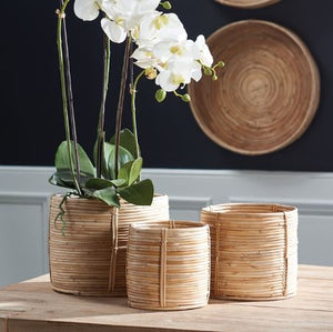 Rattan Mini Round Baskets