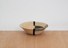 Opal Gray Geo Medium Raffia Bowl