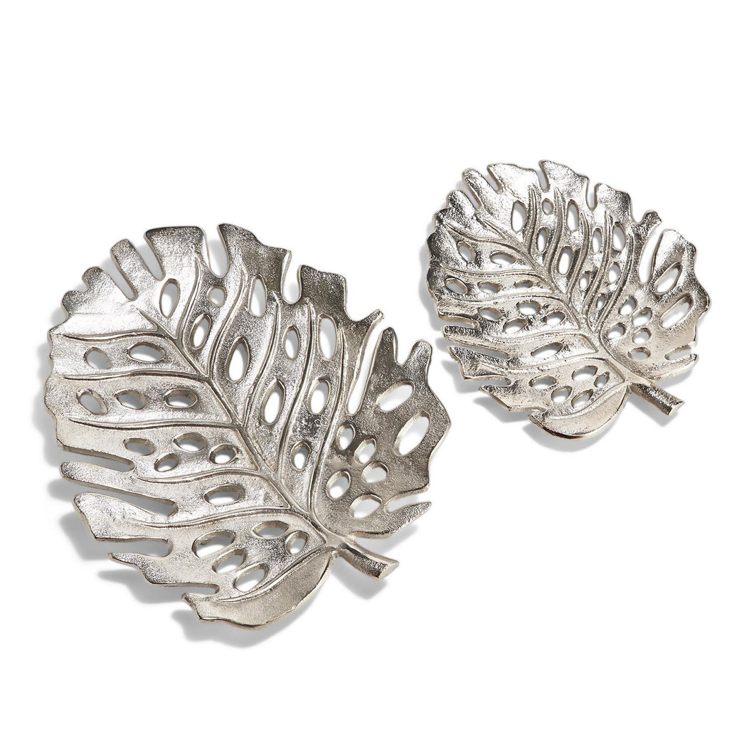Silver Philodendron Trays