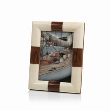 White Bone and Wood Photo Frame