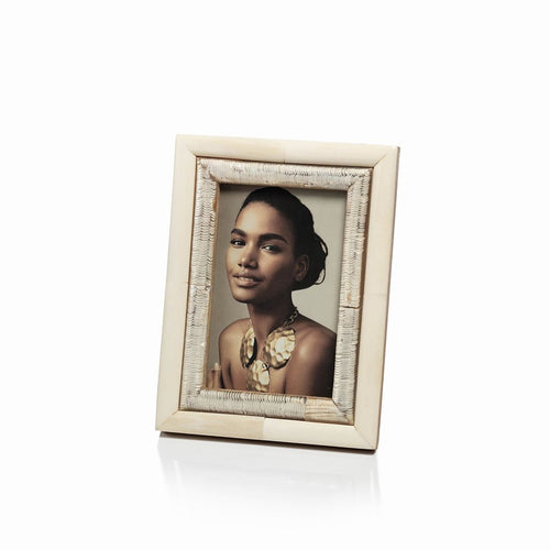 Oyster White Bone and Shagrin Horn Photo Frame, 4x6