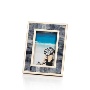 Blue Carved Bone Photo Frame