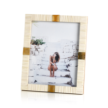 Maha Bone with Brass Trim Photo Frame