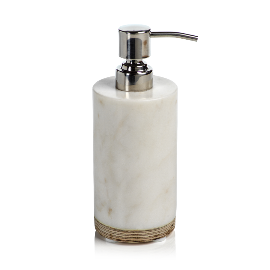 Marble & Balsa Wood Soap Dispenser