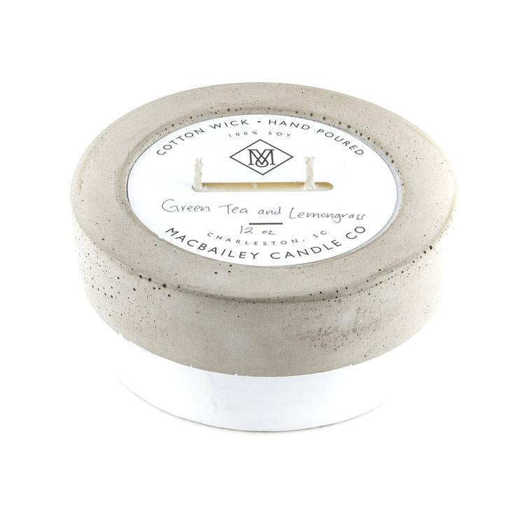 Green Tea & Lemongrass Concrete Candle