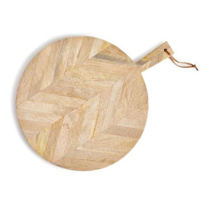 Marquetry Round Serving Board