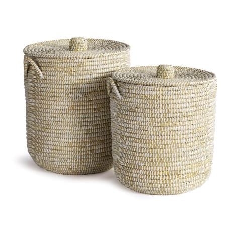 Rivergrass Hamper Basket with Lid