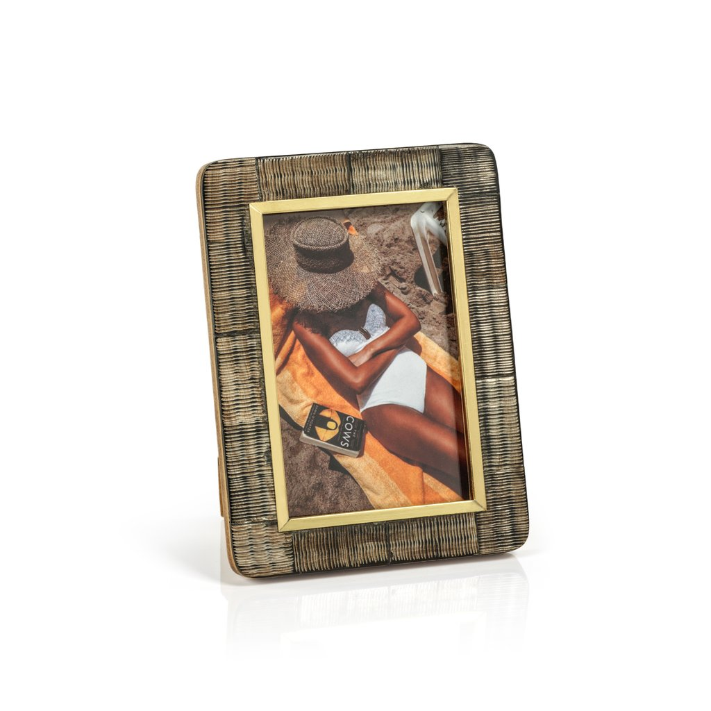 Shagrin Horn Inlaid Photo Frame, 4x6