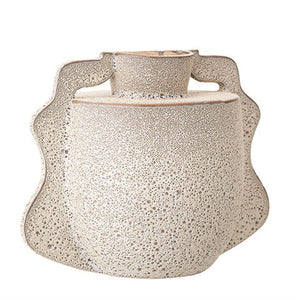 Textured White Glazed Vase